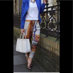 Zara Basic Harem Baroque Pants Small S Paisley